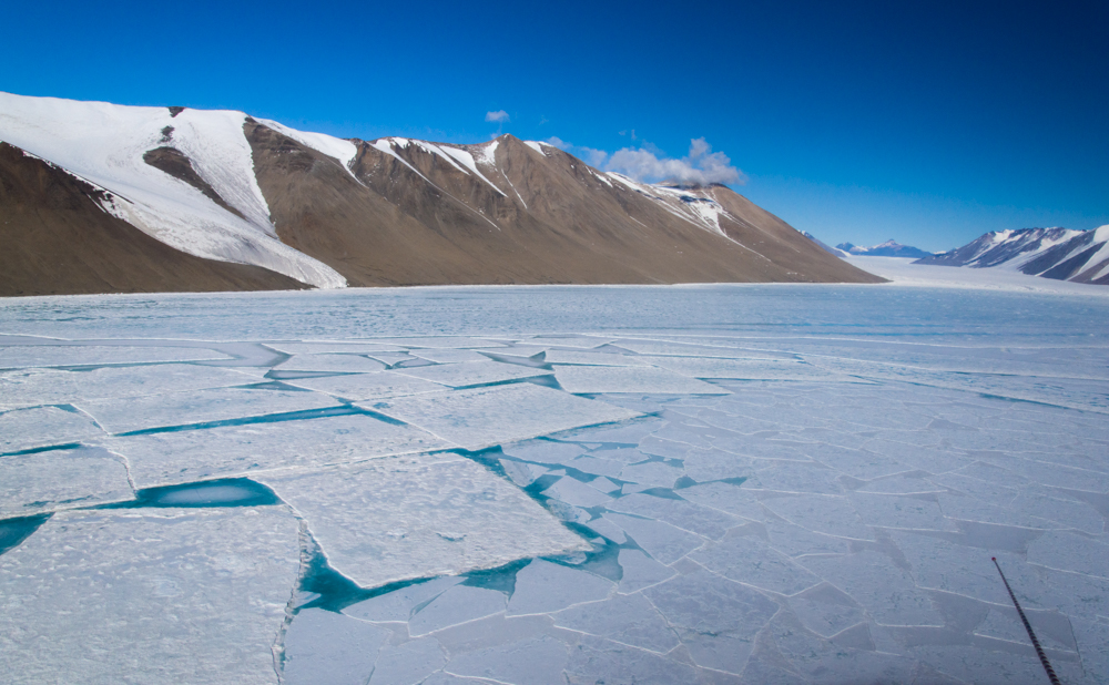Rectangular Sea Ice from Helicopter, McMurdo Sound, Antarctica (2015), photograph