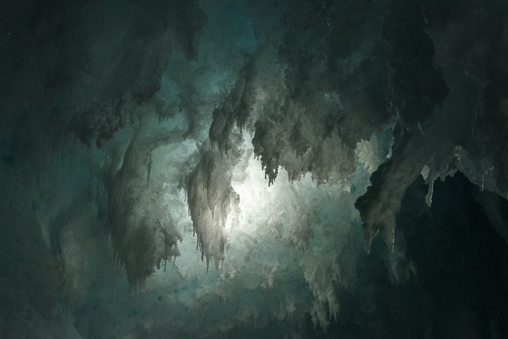 Gothic Ice, Erebus Ice Tongue Cave, Antarctica (2015), archival pigment print, 14.625 x 22 inches