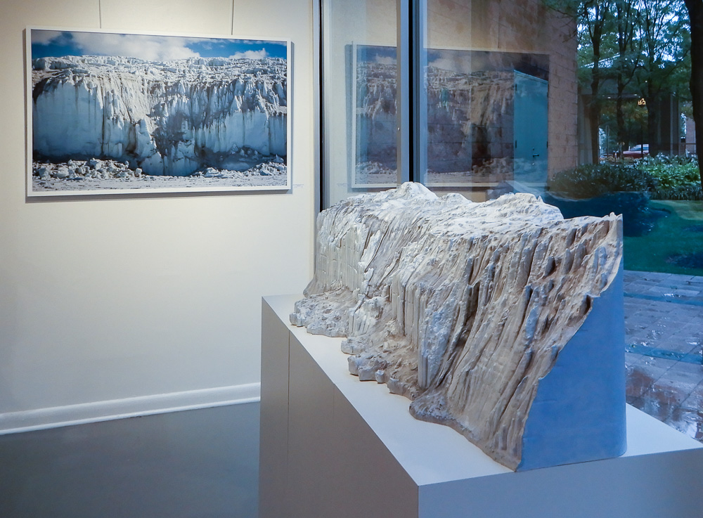 Canada Glacier from Lake Fryxell Sculpture and Photograph