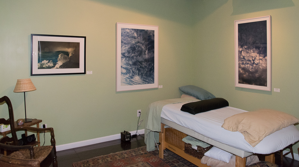 Photographs by Helen Glazer temporarily installed in medical office